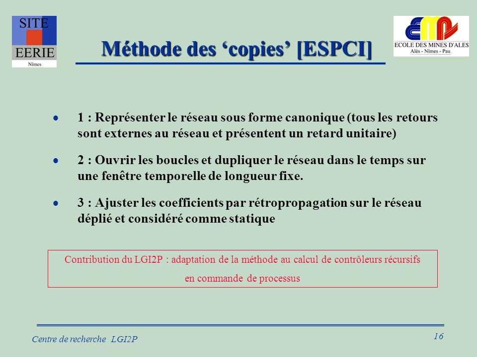 Méthode des 'copies' [ESPCI]